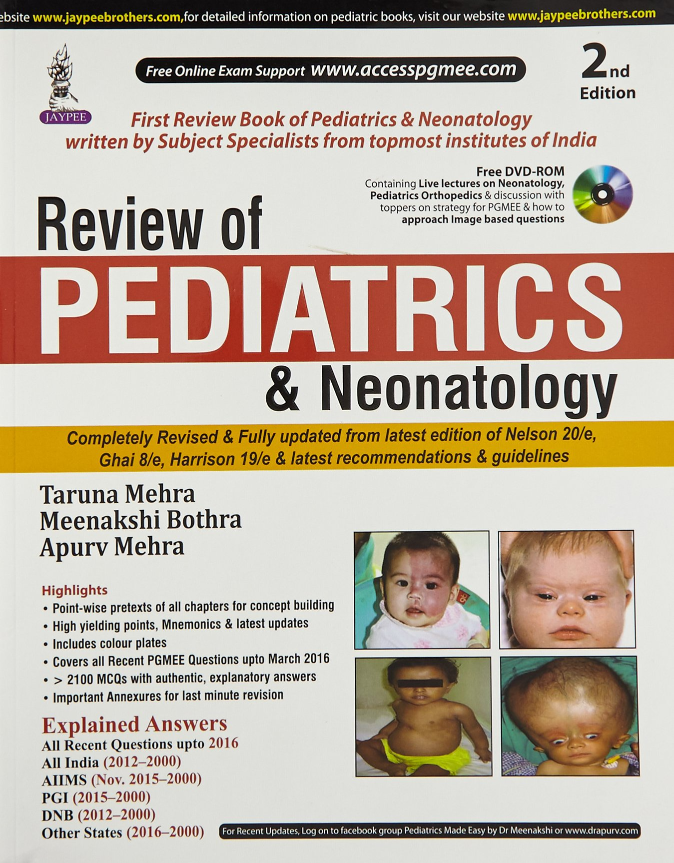 Buy Review Of Pediatrics & Neonatology With Dvd-Rom (PGMEE