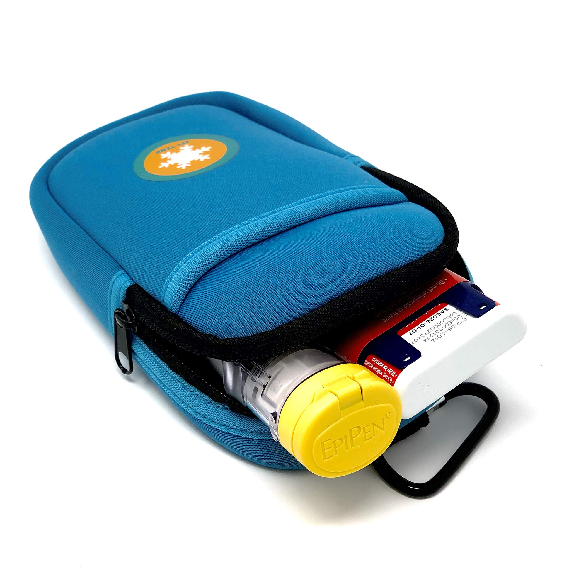EPI-TEMP Epipen Insulated Case for Kids, Adults - Smart Carrying Pouch, Storage Bag, Powered by PureTemp Phase Change Material to Keep Epinephrine in Safe Temperature Range (Teal) by EPI-TEMP (Image #6)