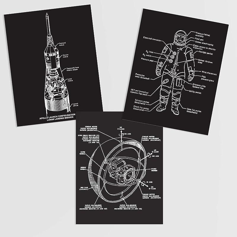 Vote Art Print Linocut Printmaking Wall D\u00e9cor Planets Stars Rocket Ship Graphic Black and White Typography Space themed nursery