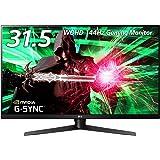 LG ゲーミングモニター ディスプレイ 32GK850G-B 31.5インチ/WQHD/VA非光沢/144Hz/G-Sync対応/DisplayPort・HDMI/高さ調節、ピボット対応