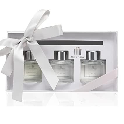 The Gift Box Scented Reed Diffuser Air Freshener Gift Set in Gift Box. 3 x 90a86aa46