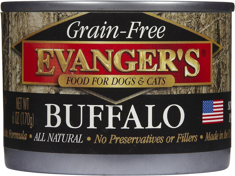 Evanger s Grain Free Buffalo – 24×6 oz