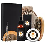 Amazon Price History for:XIKEZAN Mens gifts for Men Beard Care Grooming & Trimming Kit Unscented Bearded Oil Leave-in Conditioner + Mustache & Beard Comb+Balm Wax+Brush+Barber Scissors for Styling Shaping & Growth