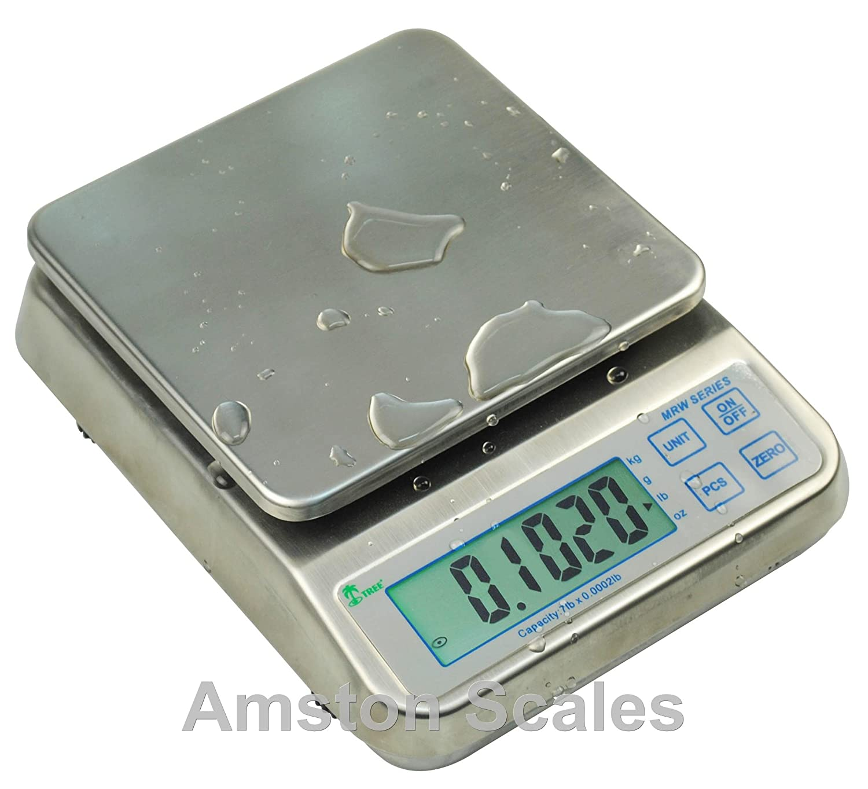 3,3 LB X 0,0001 LB/1,5 kg x 0,05 G WASHDOWN contar a prueba de polvo a prueba de agua de Control de cocina parte motor equilibrio Digital escala 6,5 x 7 cm: ...