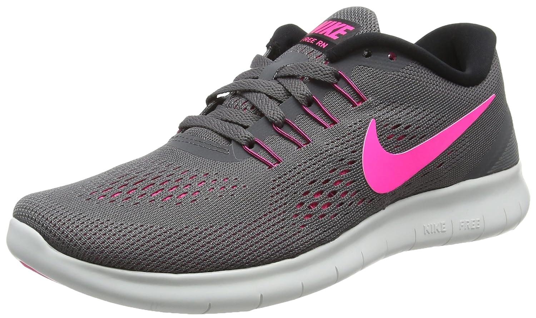 NIKE Women's Free RN Running Shoes B019DQV8YS 8.5 B(M) US|Dark Grey/Pink Blast/White
