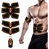 NACCO 腹筋ベルト EMSマシン 多機能 腹筋ダイエット アブズフィット リモコン操作 USB充電式 男女兼用