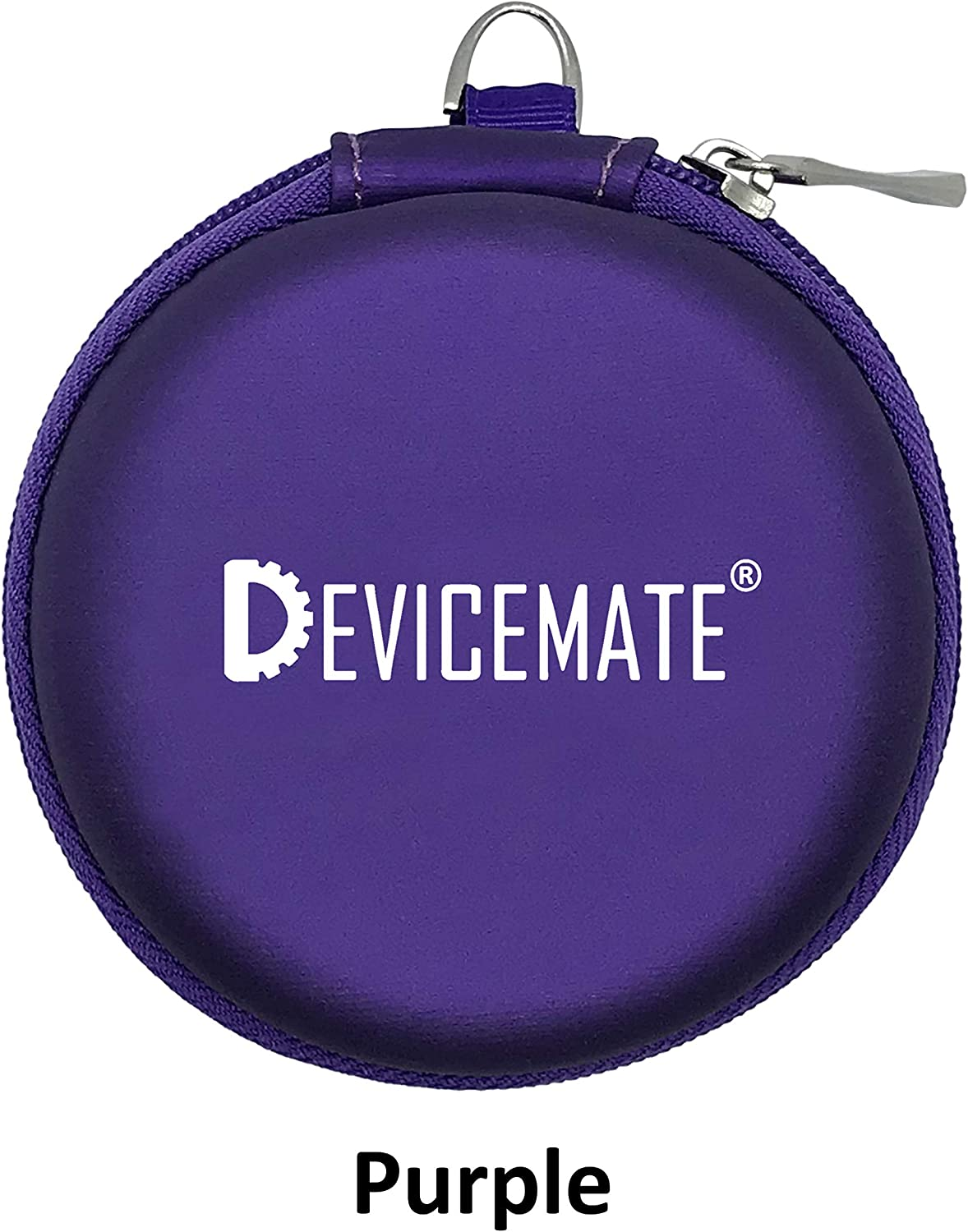 in-Ear Wired Earbuds Durable Earphones Headphones_Best Ear Buds Ear Phones for Cell Phone Smartphone Tablet MP3 MP4 CD DVD Player Laptop Notebook Computer. Earphone Case [Purple] DEVICEMATE SD 255