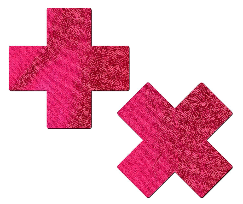 Plus X: Liquid Red Cross Nipple Pasties by Pastease® o/s PLS-LQ-RD