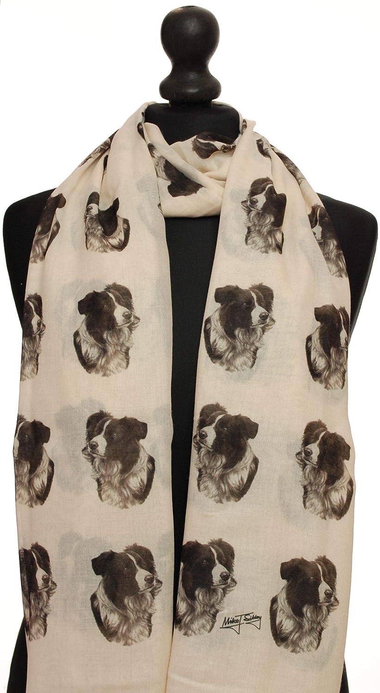 shih tzu dog breed print ladies fashion scarf with dogs on shawl wrap