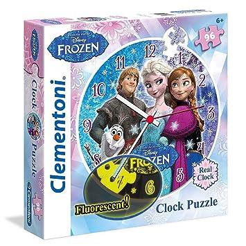 La Reine des Neiges - Disney Frozen - Puzzle horloge avec mécanisme et fluorescent