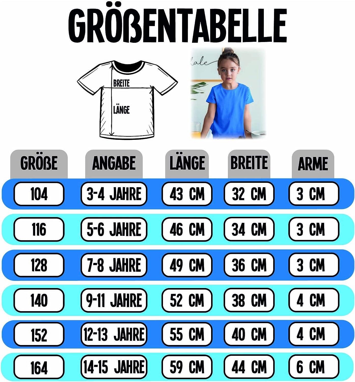 M/ädchen Kinder T-Shirt Oktoberfest /& Wiesn Kind Shirtracer Hirsch mit kleinen Blumen schwarz