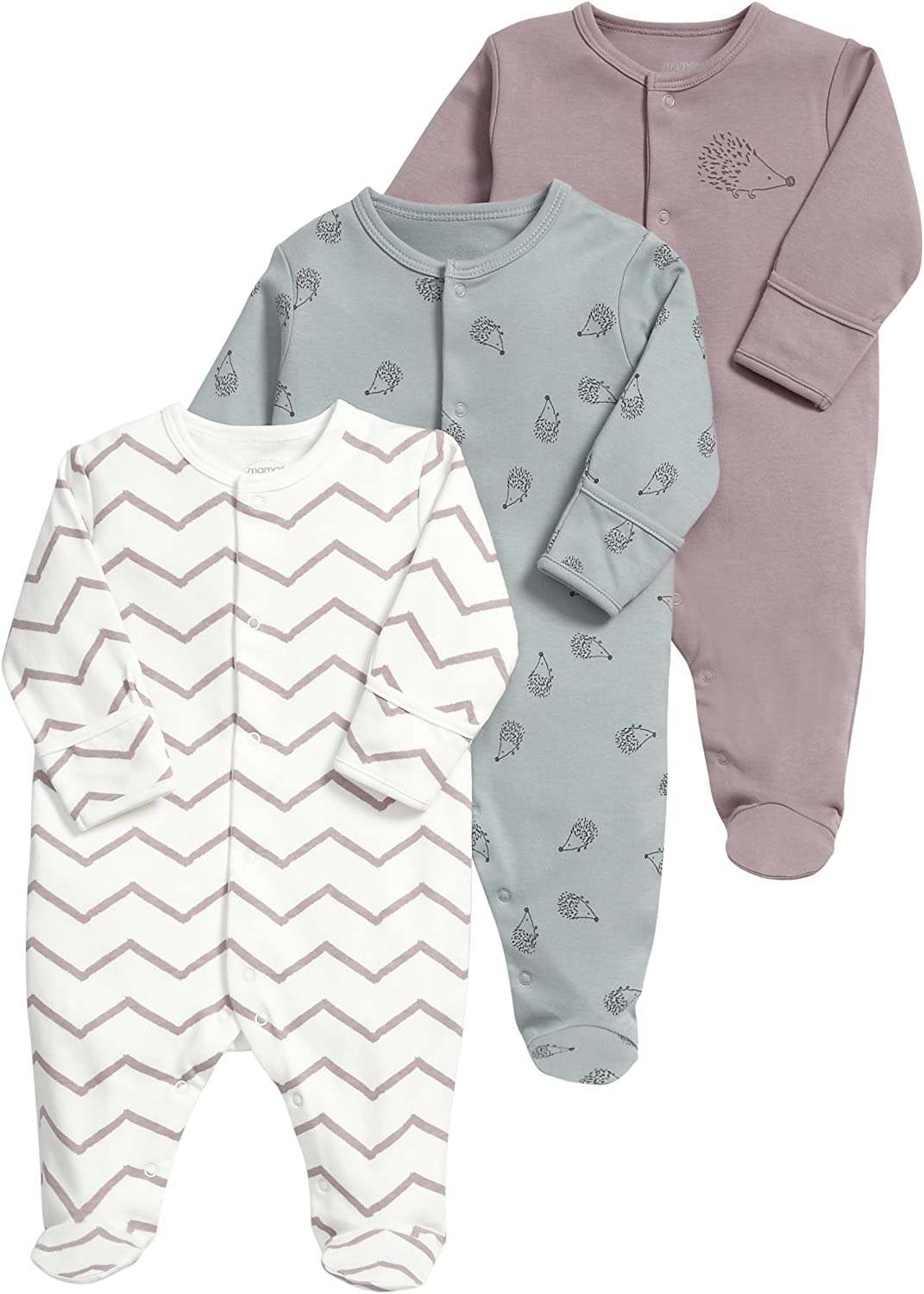 Mamas /& Papas Baby Girls Embroidered Collar All in One Footies