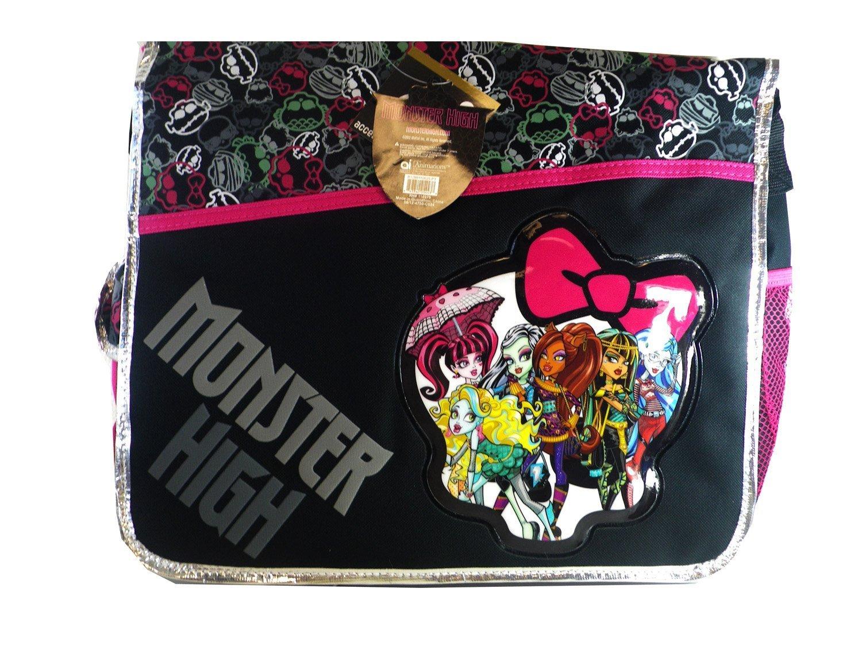 5815344e9293 Black and pink bow monster high messenger bag monster high laptop bag  sports outdoors jpg 1500x1125