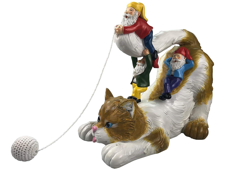 Ccoqus Garden Gnome Cat Statue Garden Decor Outdoor Patio Lawn Yard Christmas
