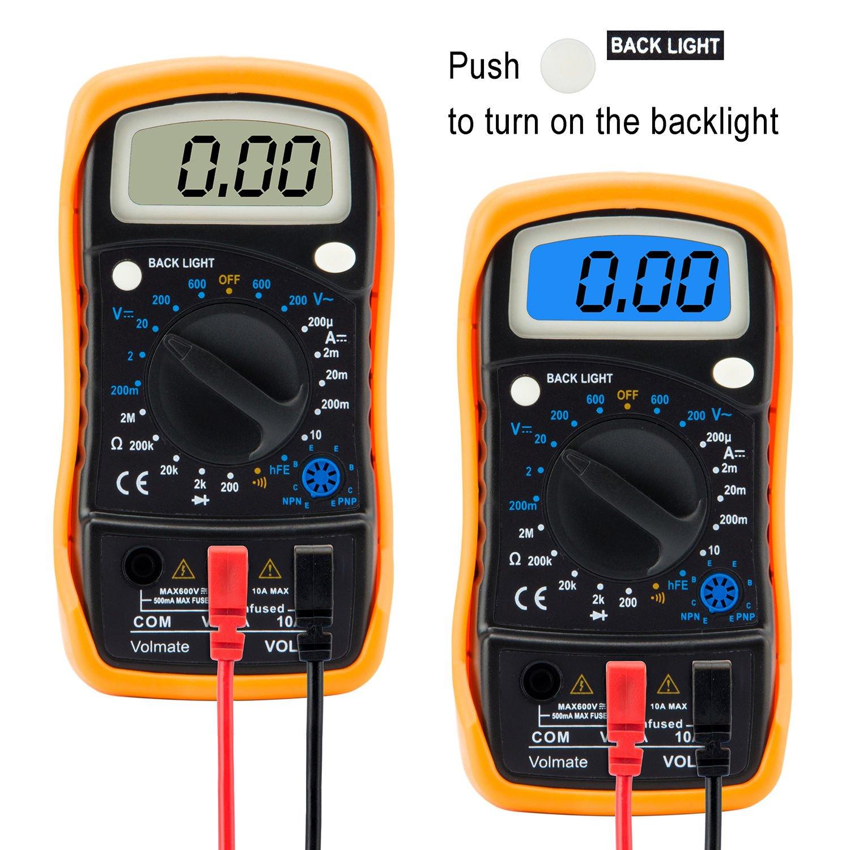 Digital Voltmeter Ammeter Ohmmeter Multimeter Volt Ac Dc Tester Circuit Multitester Meter Us Seller
