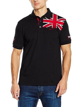Lonsdale London Polo para Hombre Camiseta Bosque erslade Negro ...