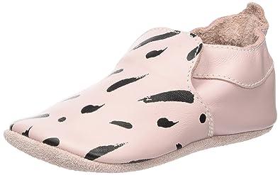 Bobux Baby Mädchen Rosa mit Weißen Tupfen Slipper, Pink (Rosa), L