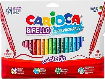 Carioca A53512024 - Pack de 24 rotuladores: Amazon.es: Oficina y ...