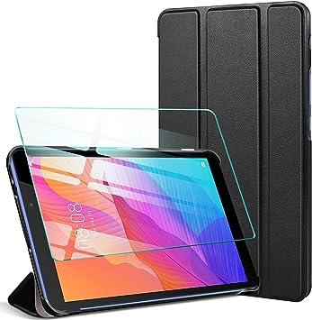 AROYI Funda para Huawei MatePad T8 8.0 + Protector de Pantalla, Funda Silicona Smart Cover Case, Carcasa Ligera con Soporte Función para para Huawei MatePad T8 8.0, Negro: Amazon.es: Electrónica
