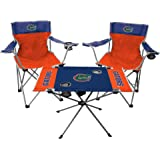 Rawlings NCAA 3-Piece Tailgate Kit, 2 Gameday Elite Chairs and 1 Endzone Tailgate Table, Florida Gators