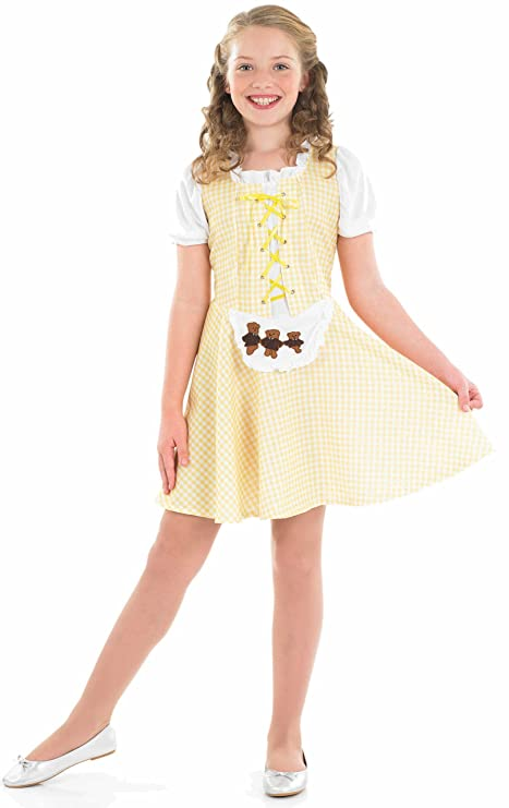 Girls Goldilocks Fancy Dress Costume Age 6-8 Years (disfraz)
