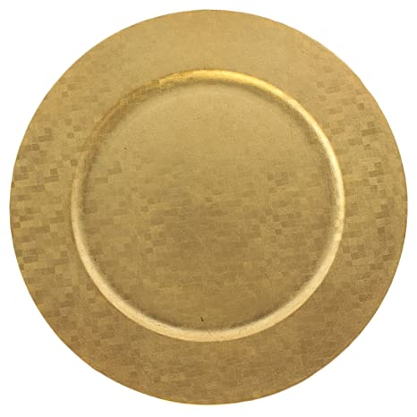 Elegant Dinnerware Charger Plates Choose Gold or Silver Accent Plate for Holidays (4 Checkered  sc 1 st  Amazon.com & Amazon.com | Elegant Dinnerware Charger Plates Choose Gold or Silver ...