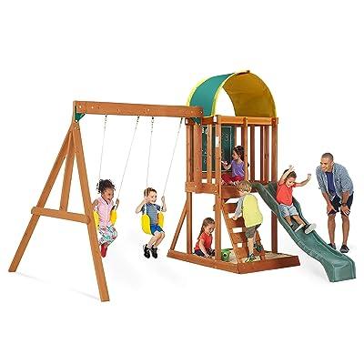 Big Backyard KidKraft Andorra Cedar Wood Swing Set / Playset F24140: Toys & Games