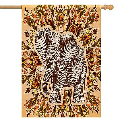 Amazon Com Interestprint Fantasy Elephant House Flag