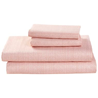 Rivet Half Moon Cotton Sheet Set - Queen, Peach-Pink