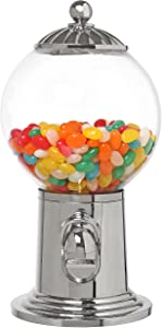 10-Inch Desktop Refillable Gumball Machine, Vintage Style Candy Dispenser w/Clear Acrylic Globe
