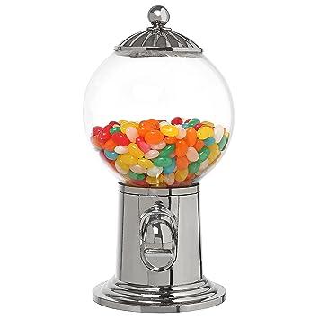 25,4 cm escritorio recargable Gumball Machine, Vintage Estilo Candy dispensador w/acrílico