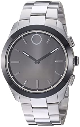 217167133 Movado Bold Connected II Quartz Watch with Stainless-Steel Strap, Silver,  22 (