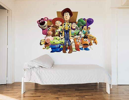 Vinilo Decorativo Infantil de Pared Toy Story – Autoadhesivo de fácil colocación – Habitación Infantil – 96x120: Amazon.es: Hogar