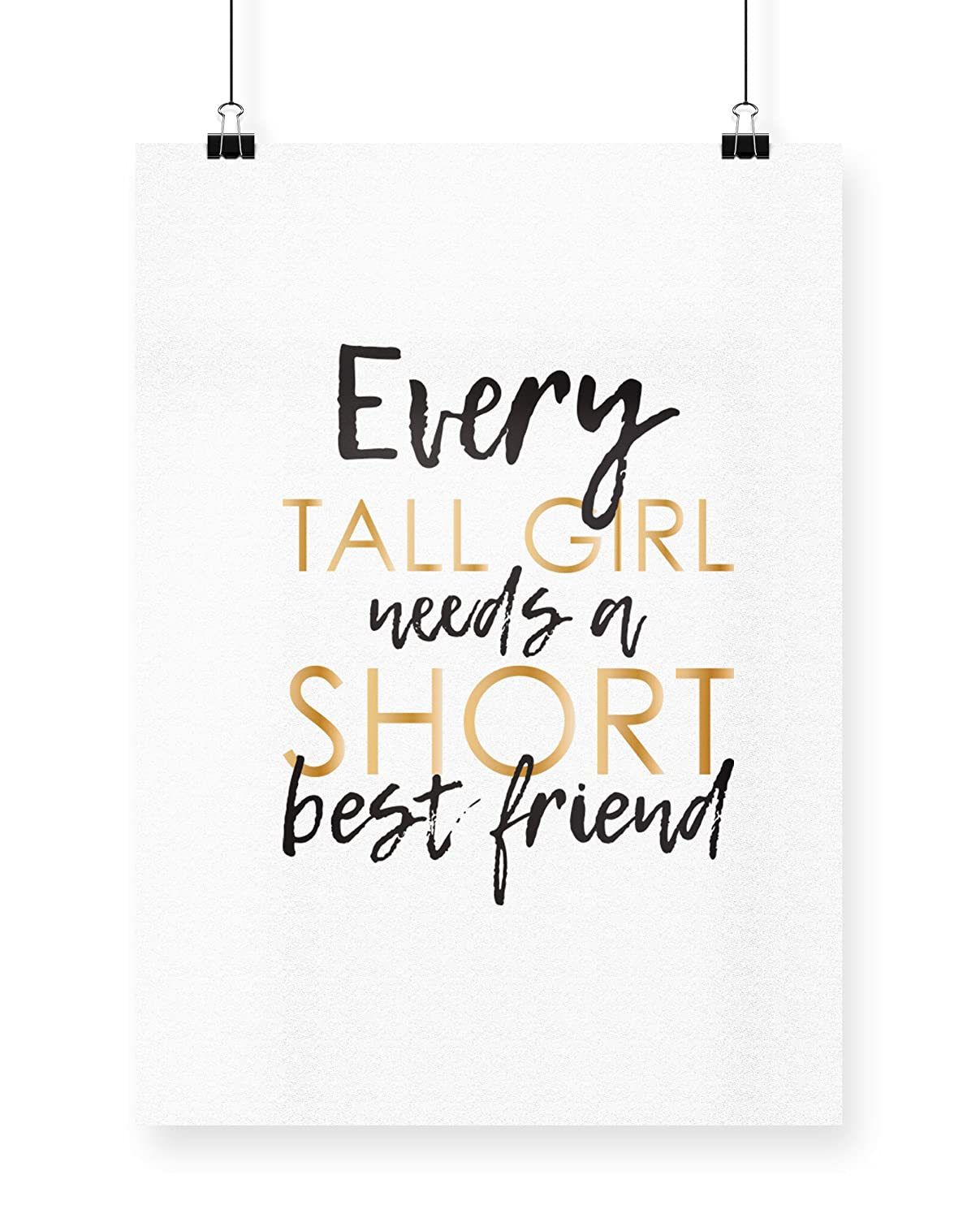 Every Tall Girl Needs A Short Best Friend Tote Shopping Gym Beach Bag 42cm x38cm