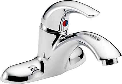 Delta Faucet 22C101 22T Less Pop-Up Single Handle Centerset Bathroom ...