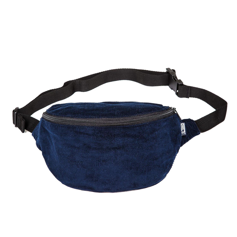 Hipbag Umh/ängetasche H/üfttasche Bauchtasche cord fein blau G/ürteltasche