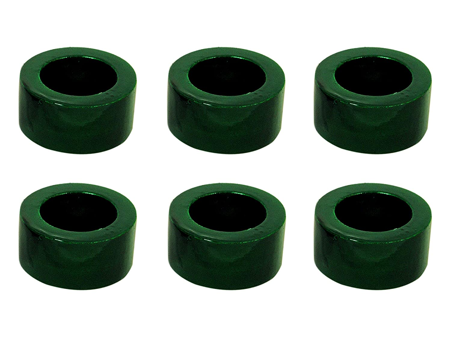 Green, Pack of 12 Worldexplorer Handcrafted Colorful Wooden Napkin Rings Set of 12 for Table Dinner Decoration
