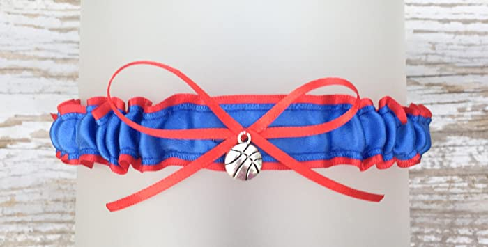 Amazon Sexy Tossing Demi Royal Blue Red Satin Basketball Themed