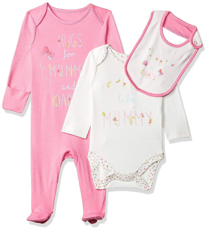 Mothercare Mummy & Daddy, Conjunto de Ropa para Bebés, Rosa ...