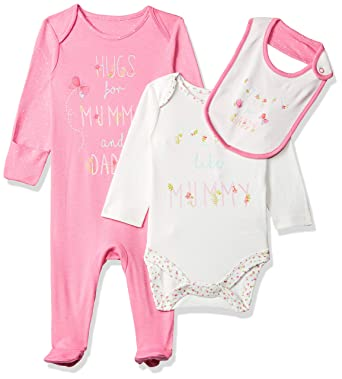 a54ee2f73 Mothercare Baby Girls  Mummy   Daddy Clothing Set  Amazon.co.uk ...