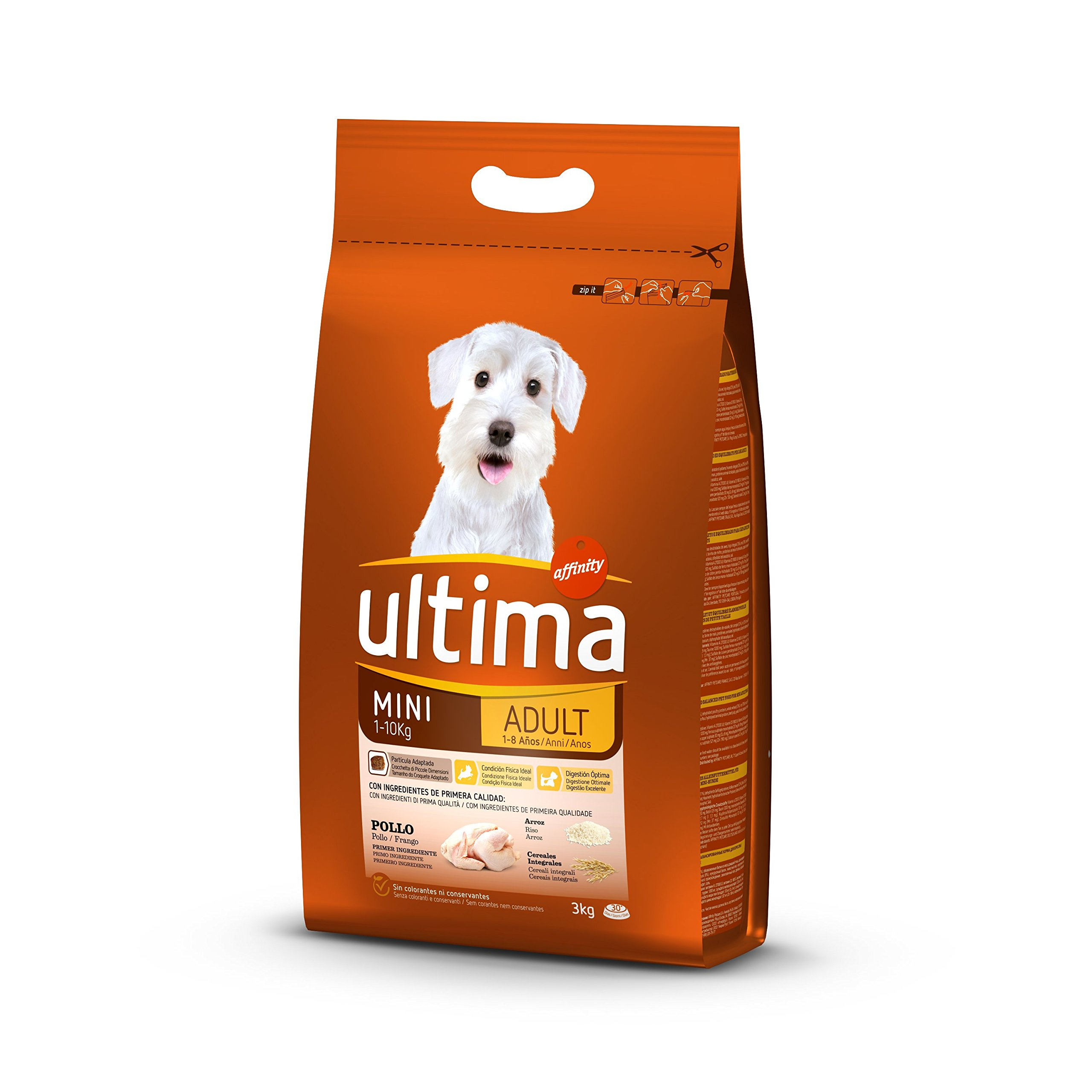 Ultima Pienso para Perros Mini Adultos con Pollo y Arroz product image