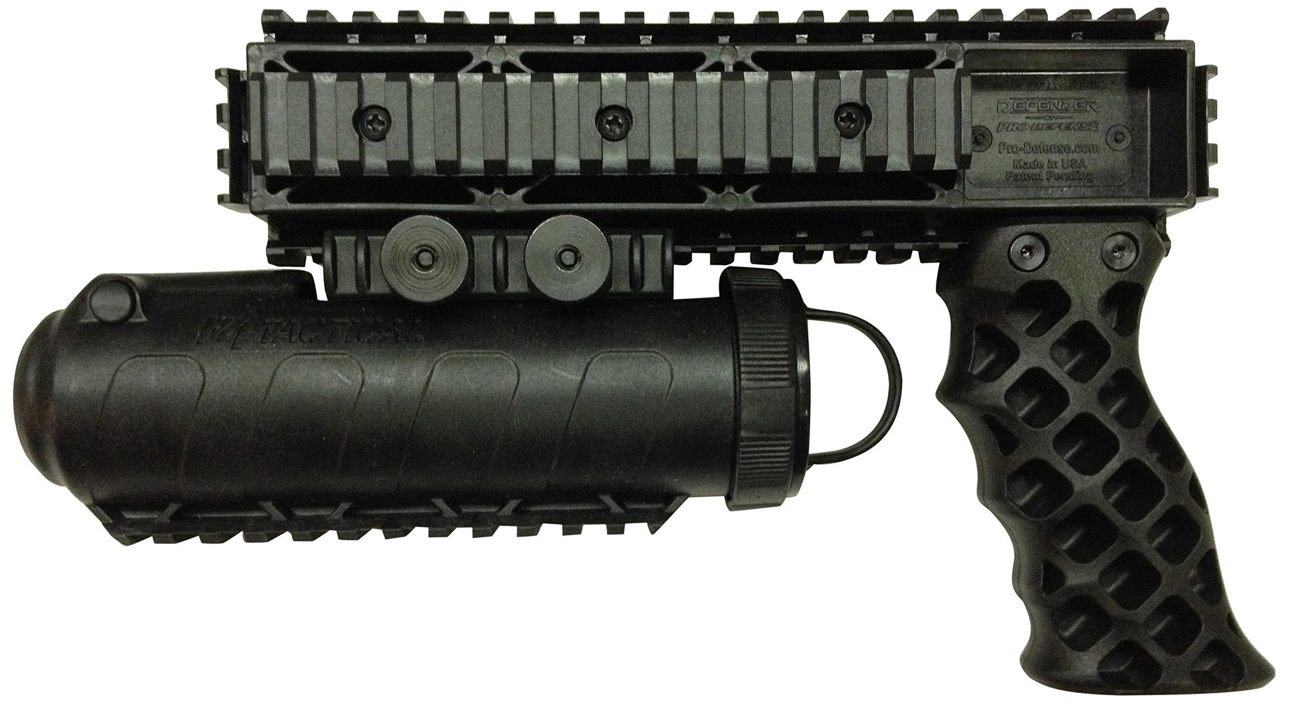 Pro-Defense The Defender Rail Mounted Pepper Spray System, Black, Left/Right
