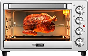VIVOHOME 6 Slice Countertop Toaster Oven, Convection Oven 1600 Watts, Extra-Large 37QT (35L) , Stainless Steel, Silver