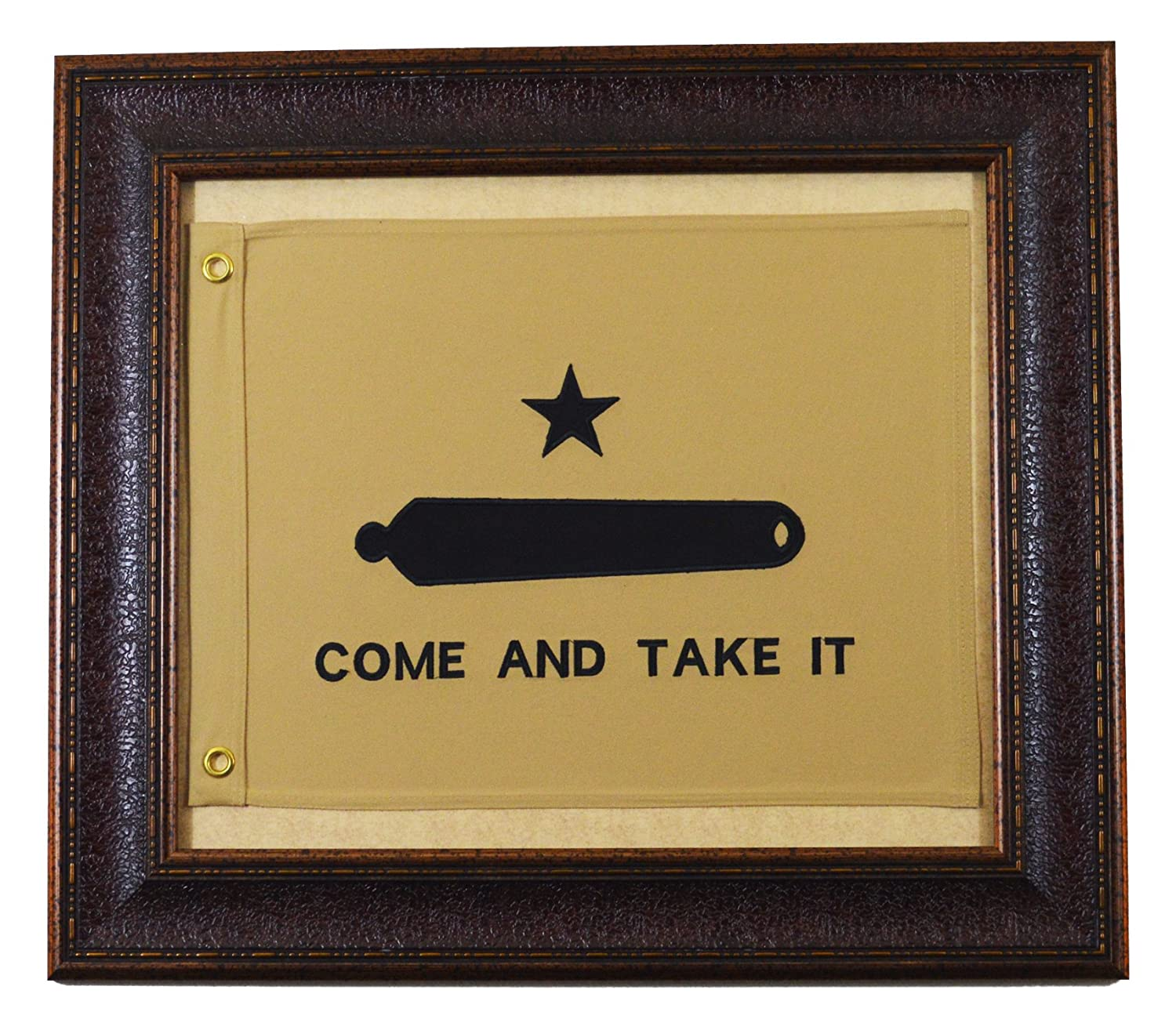 Amazon.com: Small Come And Take It Framed Flag Aged USA Real Rustic ...