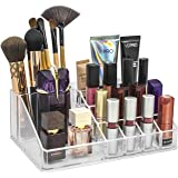 """Sorbus MUP-LGTP Acrylic Sectional Makeup Organizer and Jewelry Storage Case - Square, Clear, 8.75"""" L x 3"""" H x 6"""" W"""