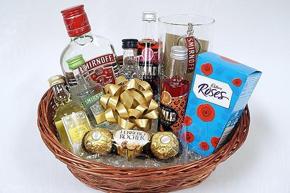Personalised Vodka Gift Basket