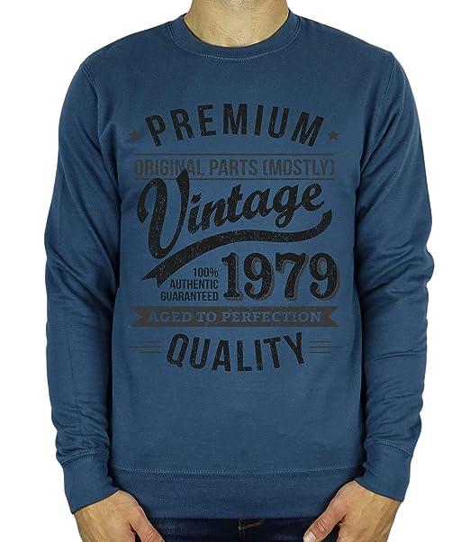 My Generation Gifts 1979 Vintage Year - Aged To Perfection - 40 años Regalo de cumpleaños/Presente Sudadera para Hombre: Amazon.es: Ropa y accesorios