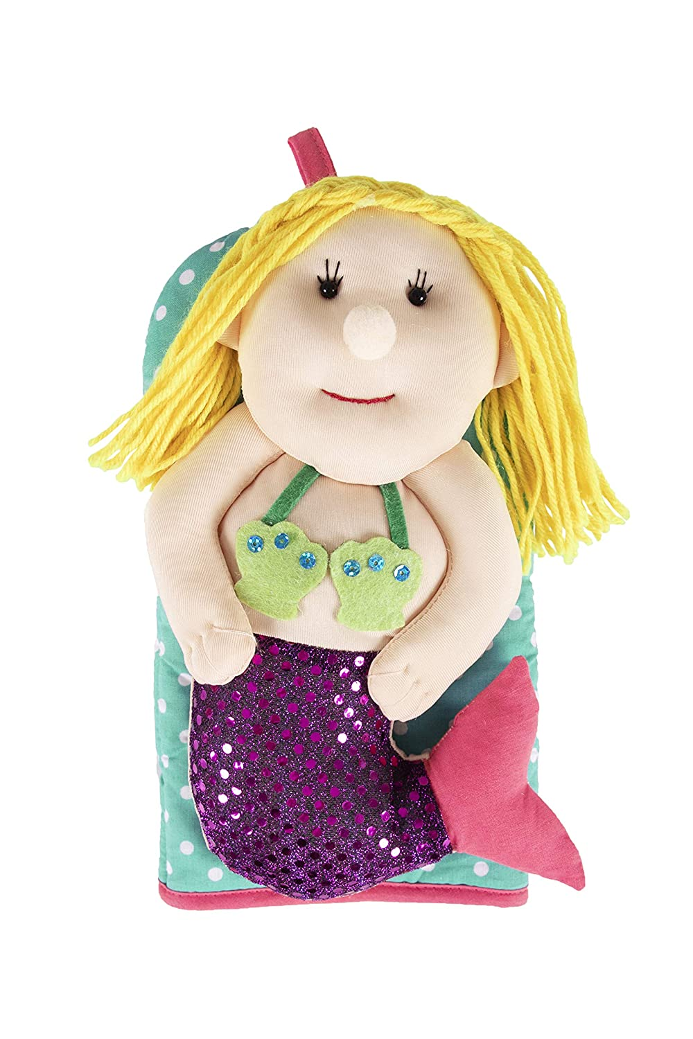 "Ritz Kitchen Friends Novelty Cotton Oven Mitt, Decorative Item Only, Great Gift, 6"" x 11"", Mermaid, Single Unit"