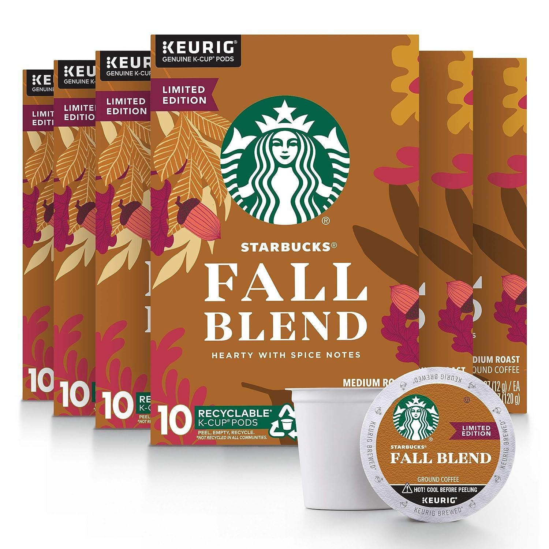 Starbucks Christmas Flavored Kcups 2020 Starbucks Medium Roast K Cup Coffee Pods — Fall Blend for Keurig