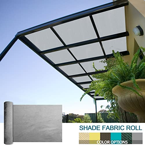 Coarbor 16Ft x 83Ft Shade Cloth Pergola Patio Cover Provide Shade Fabric Roll Customized Mesh Screen Heavy Duty Provide Privacy Permeable UV Resistant Make to Order- Light Grey